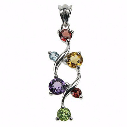Amazing Style Multi Gemstone Sterling Silver Pendants