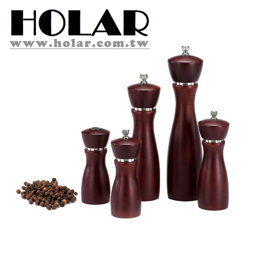 Chef Wooden Manual Pepper Grinder With Stainless Steel