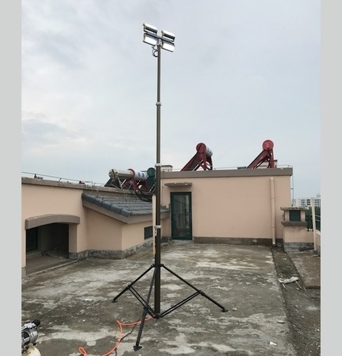 Pneumatic Telescopic Mast Lighting Tower For Outdoor Lighting