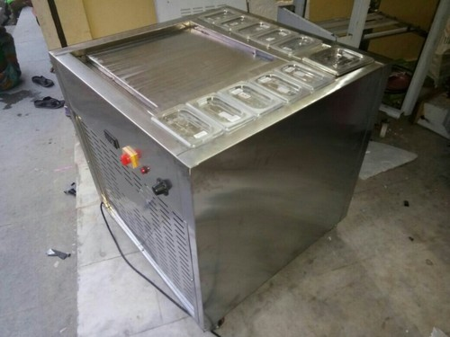 Pan Ice Cream Machine with Glass