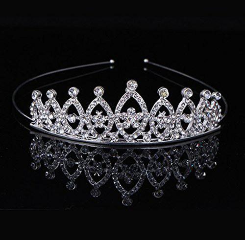 Silver Stylish Tiara Clips Headbands
