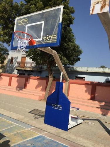 Movable Basketball Post With Height Adjustment