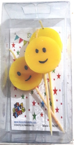 Smiley Birthday Candles