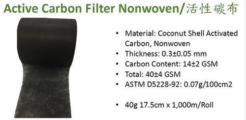 Active Carbon Filter Nonwoven in   AnDing Dist. Tainan