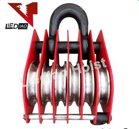 Heavy Duty Three Wheel Wire Rope Sheave Snatch Pulley Block