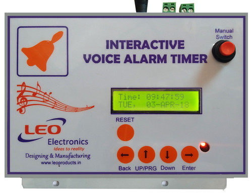 Electrical Interactive Voice Alarm Timer