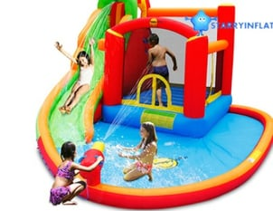 Happy Hop Inflatable Water Pool With Slides