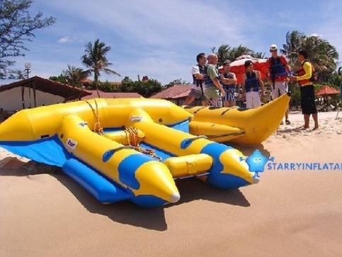 Pvc Towable Tube Inflatable Flying Banana Boat Fly Fish