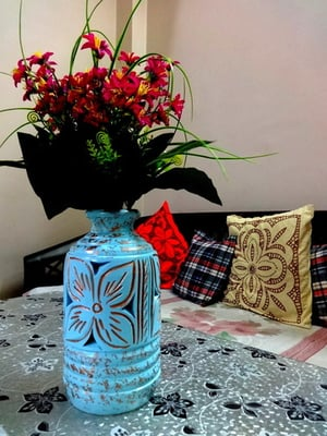 Handcrafted Terracotta Table Vase