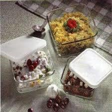 Square Dish With Plastic Lid