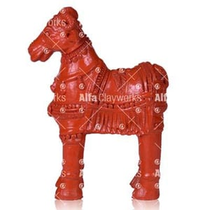 Painted Terracotta Goat Statue