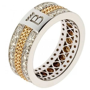18k White And Yellow Gold Ring