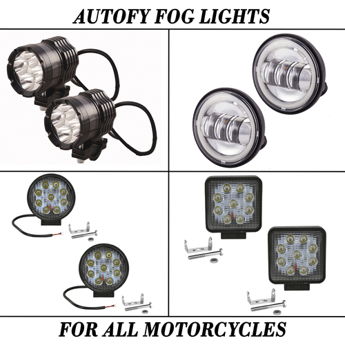 Autofy Fog Lights For All Motorcycles Or Bike