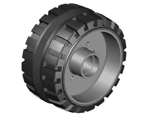 Hole Type Paver Wheel Solid Tyre
