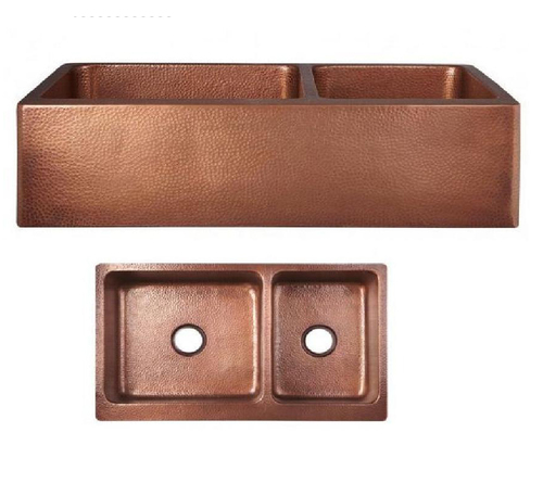 Handmade Copper Double Bowl Kitchen Sink