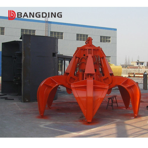 Easy To Operate Hydraulic Orange Peel Grab Bucket For Ship