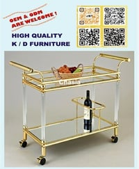 Home Or Hotel Using Food Serving Cart Wood Tray