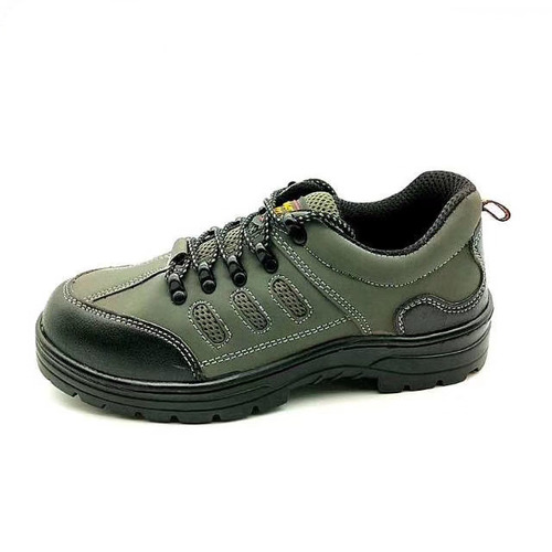 Green Leather Upper Pu Outsole Safety Work Shoes