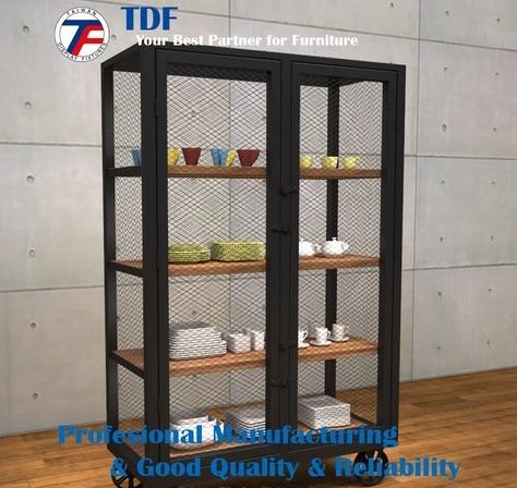 2 Doors Metal Storage Cabinet with wheels