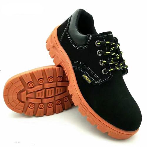 Black/Orange Pu Outsole Safety Work Boots