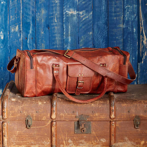 f4861025b756 Leather Travel Bags In Udaipur, Rajasthan - Dealers & Traders
