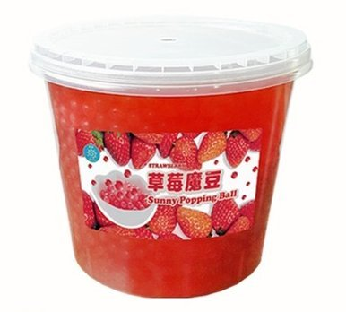 Bubble Tea Topping Popping Boba Strawberry Flavor