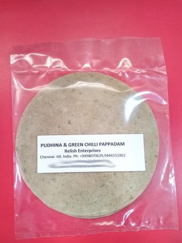 Pudhina And Green Chilli Pappadam