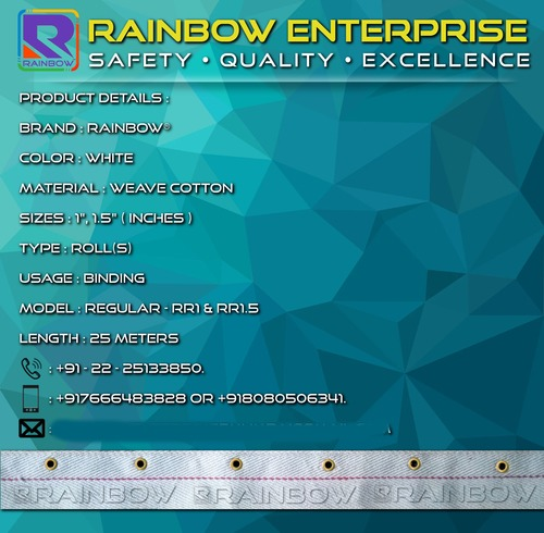 Rainbow Cotton Eyelet Regular Tapes