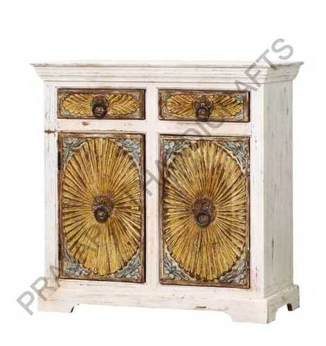 Decorative Carved Bedside Cabinet