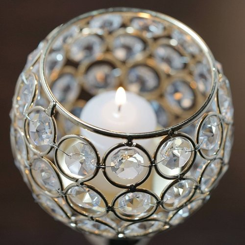 Fancy Crystal Candle Holder
