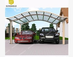 Aluminum Canopy Parking With Polycarbonate Panel