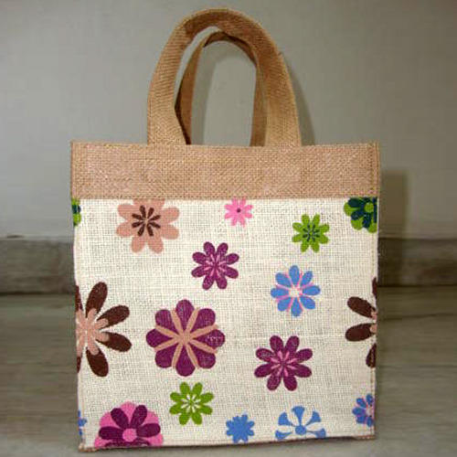 Printed Jute Beach Bag