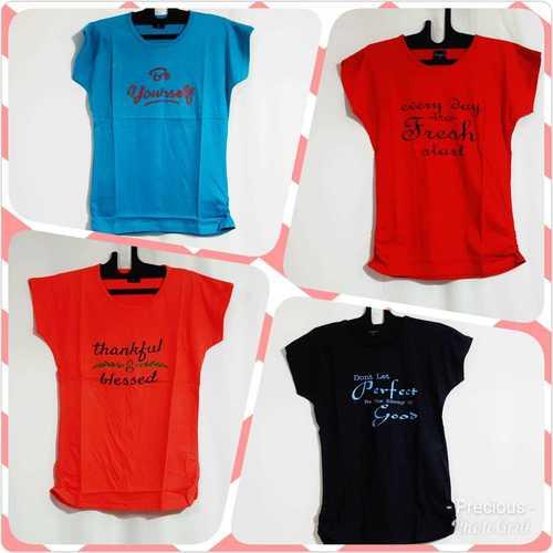 Slogan Printed T Shirt