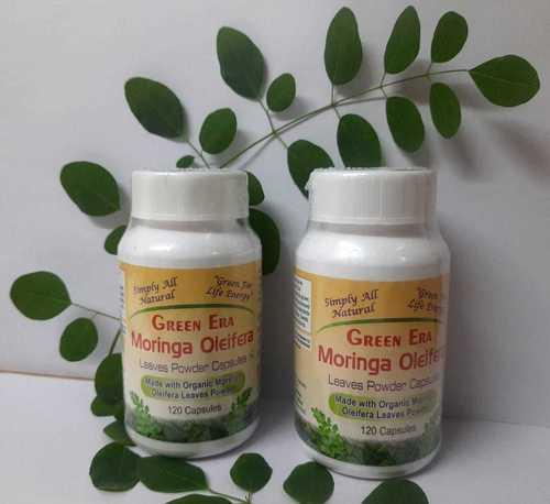 60 Veg Organic Moringa Oleifera Leaves Powder Capsules