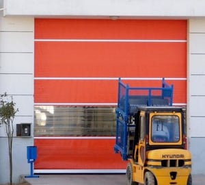 Automatic Industrial PVC Fabric High Speed Fast Rapid Overhead Roller Shutter