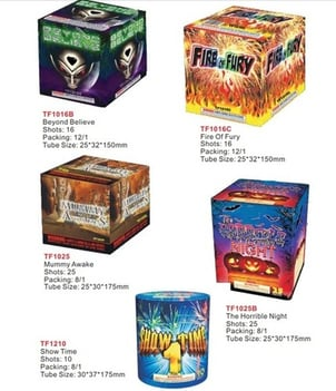 Fire Of Fury Firework Type And Colored Birthday Cake Sparklers