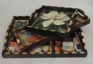 Wooden Decorative Serving Tray