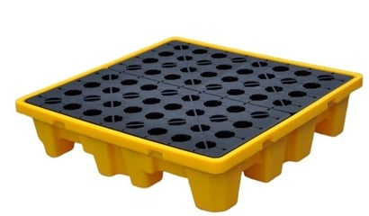 Yellow Pe Spill Containment Pallet-4 Drum Spill Pallet