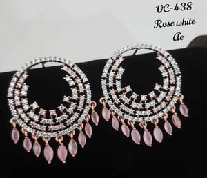 Diamond Earring - Red Color