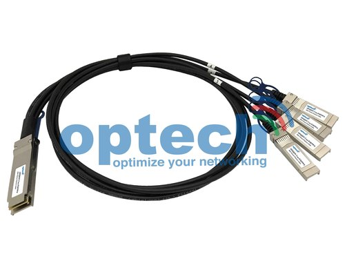 40Gbps QSFP to 4 x SFP Fanout Breakout Cable