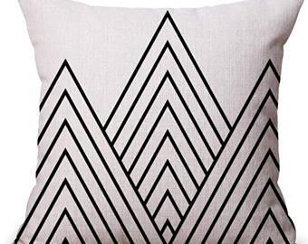 Digital Printed Geometrical Design Cushion Cover