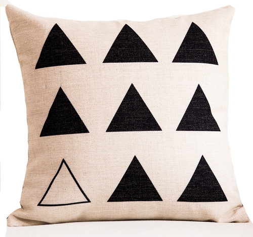 Digital Printed Geometrical Triangle Designs Cushion Covers