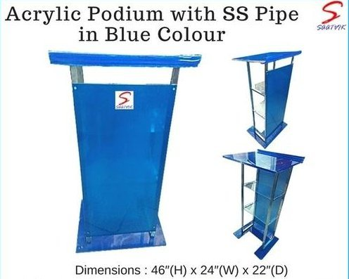 Stainless Steel And Laminated Wooden Podium (SP-543)