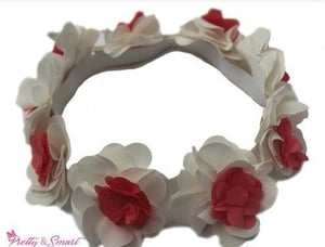 Satin Floral Hairband For Girl (Pretty28)