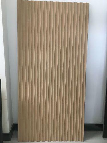 3D MDF Waved Decorative Panel