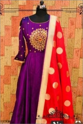 Banarasi Handloom Pure Katan Silk Dupatta