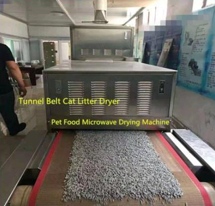 30kw Tunnel Conveyor Belt Type Automatic Microwave Cat Litter Dryer/Microwave Drying Machine
