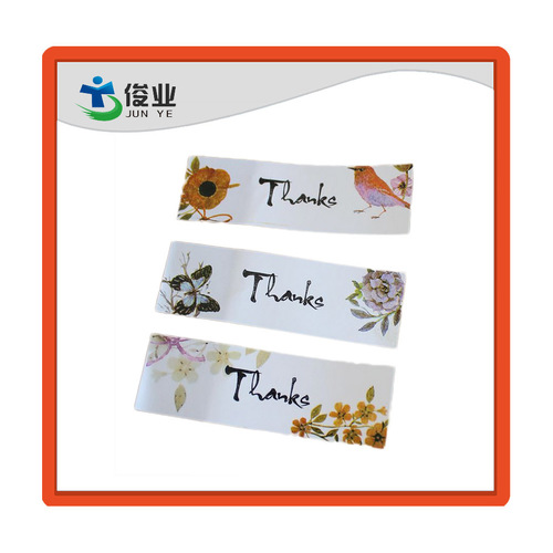 Custom Made Art Paper Sticker For Gift Packaging