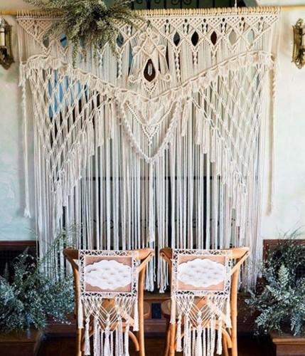 Decorative Macrame Wedding Backdrop