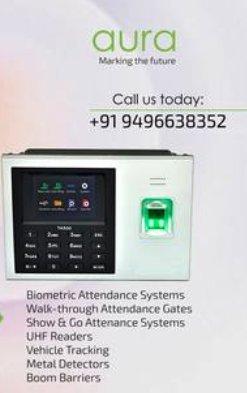 Portable Biometric Attendance System in Mavelikara, Kerala - Aura